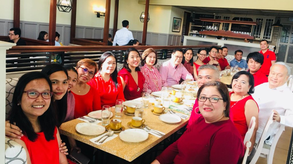 Breakfast celebration of PRIMEX staff together with the Chairman of the Board, Jose P. Leviste.
