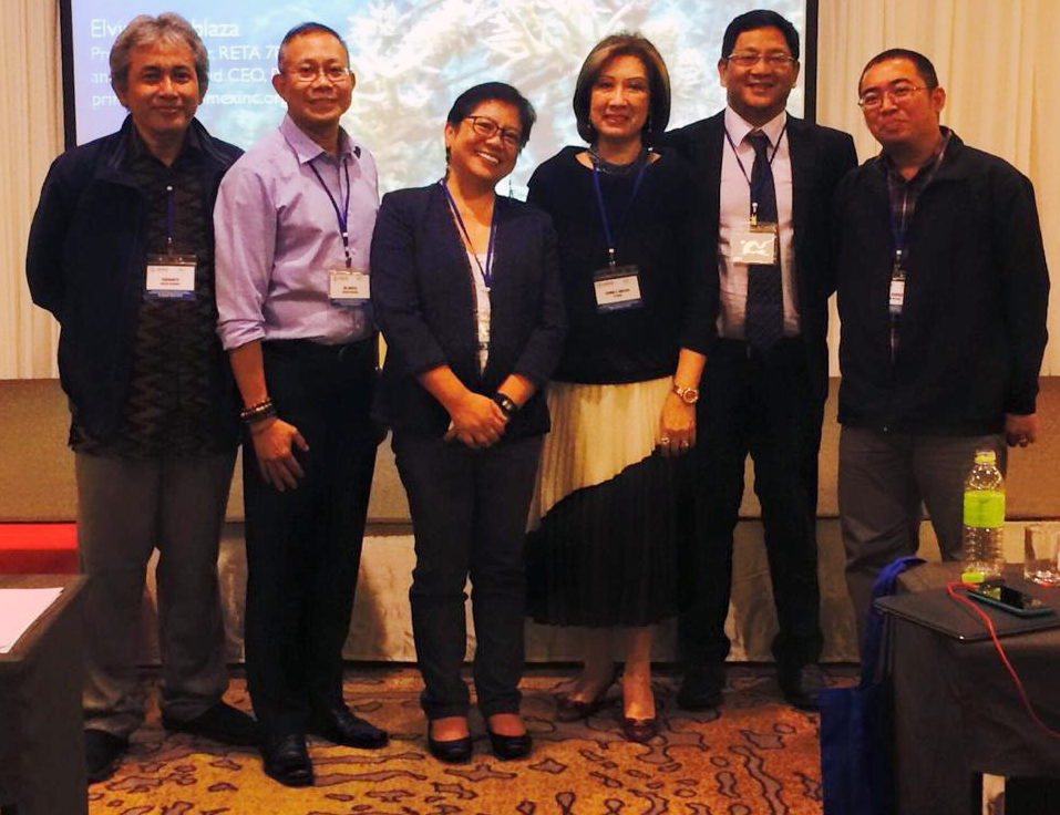 Ms. Elvira C. Ablaza (3rd from right) and Mr. Raul G. Roldan (2nd from right) shared challenges and lessons in implementing EAFM projects in the Coral Triangle during the regional workshop in Bangkok. (Photo courtesy of Len Garces)