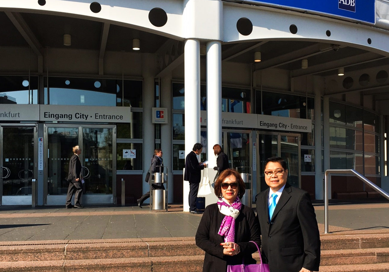 Ms. Ablaza and Dr. Sison at the meeting venue  in Frankfurt