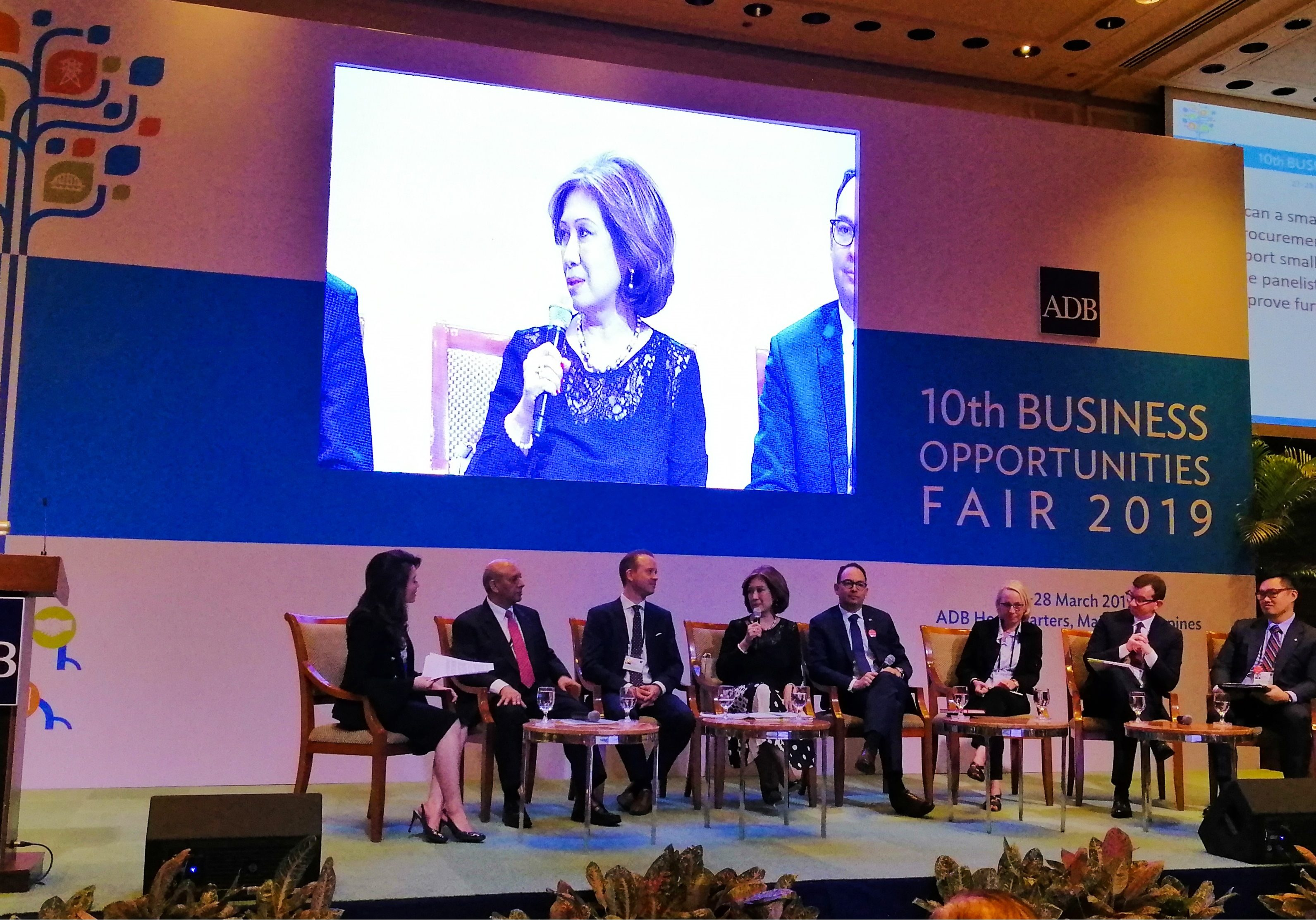 PRIMEX President and CEO Ms. Elvira C. Ablaza was handpicked by the Asian Development Bank (ADB) as one of the speakers for the High Level Panel of the 10th Business Opportunities Fair at the ADB Headquarters on 27 March 2019.