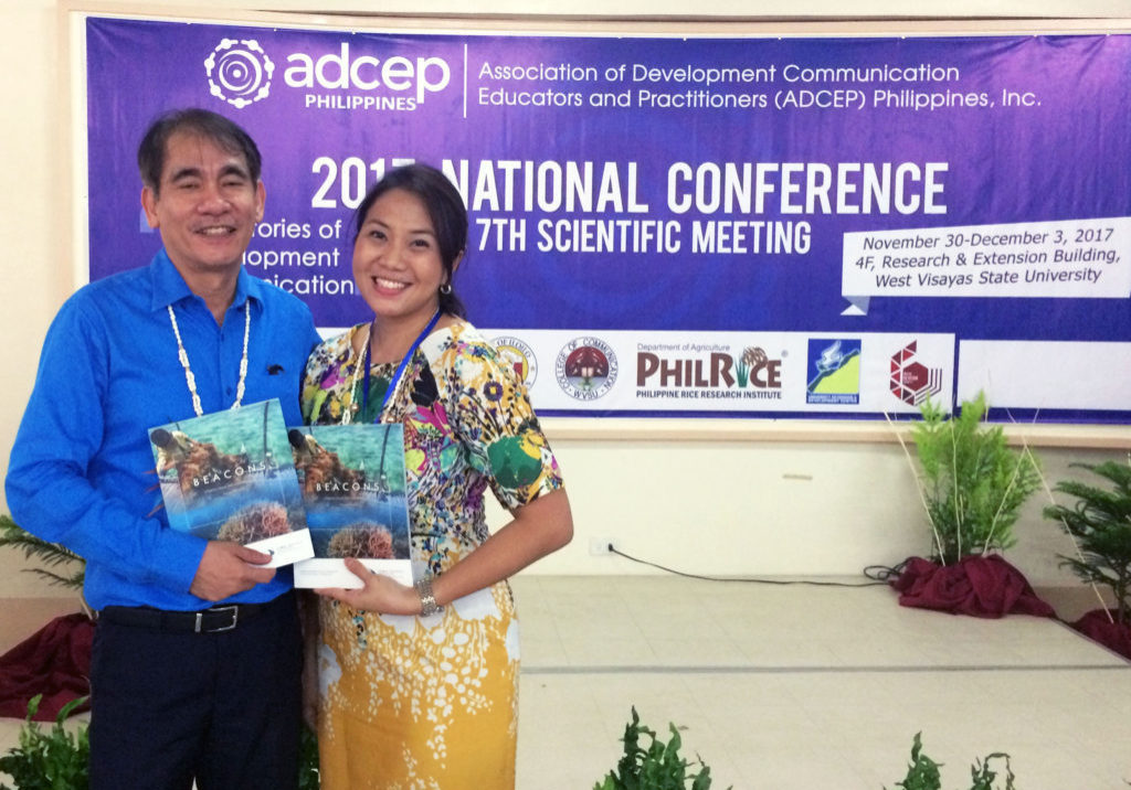 Ms. Lourdes Margarita A. Caballero with Dr. Ramon R. Tuazon, one of the ADCEP conference keynote speakers.